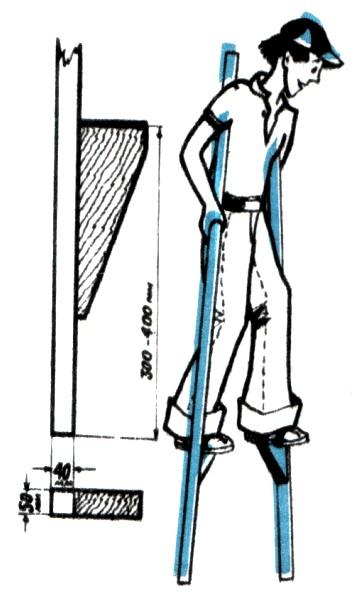 Сделать строительные ходули своими руками 73