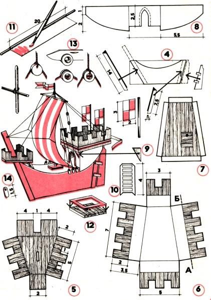 Схема корабля Ког