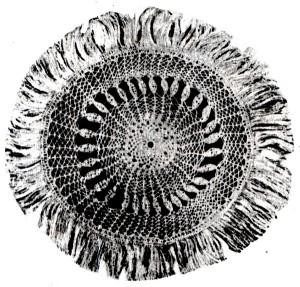 Макраме: круглая салфетка