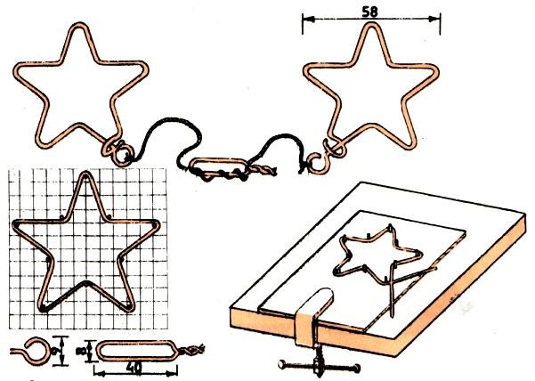 Звездочка: головоломка схема