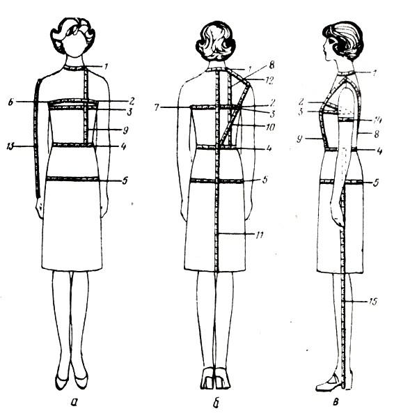 снятие измерений с фигуры человека