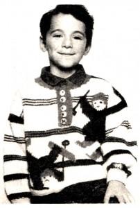 """Пуловер """"Веселые малыши""""-детский, вязание спицами"""