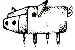 Свинка: елочное украшение - из спичечного коробка