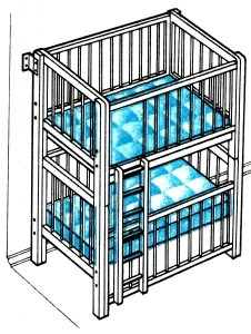 Двухъярусная кроватка, своими руками