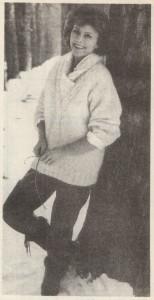 Пуловер с воротником (шалью)