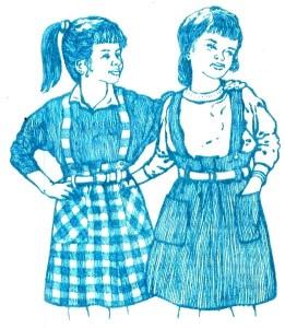 Сарафан для девочки из маминой юбки