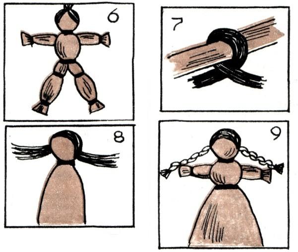 Сделаем кукле волосы из
