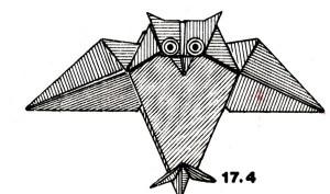 Сова, оригами